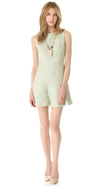 alice + olivia Drop Waist Boat Neck Dress