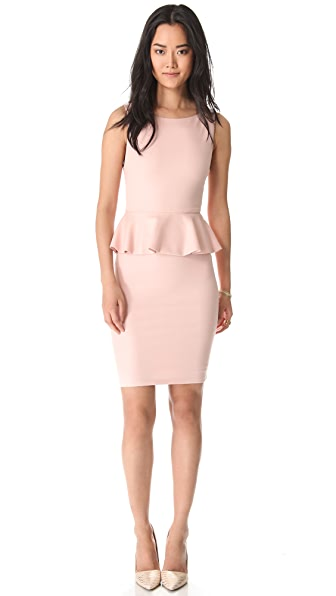 alice + olivia Tracey Sleeveless Peplum Dress