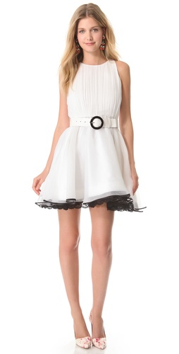 alice + olivia Valli Short Ruffle Dress