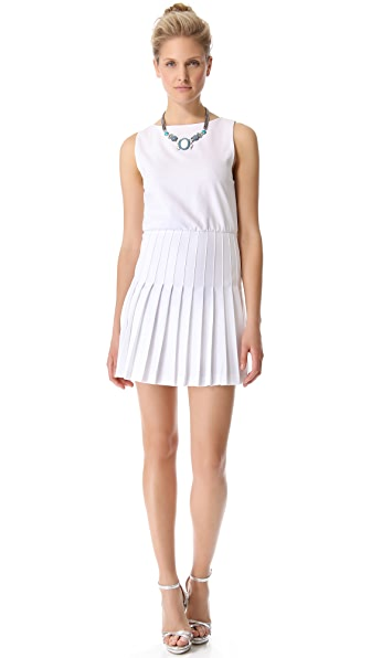 alice + olivia Shaun Pleated Dress