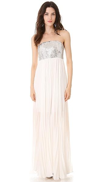 alice + olivia Shira Strapless Gown