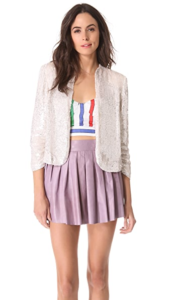 alice + olivia Wheeler Drape Jacket