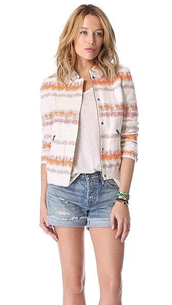 alice + olivia Finley Zip Front Jacket