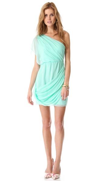 alice + olivia Wesson One Shoulder Dress