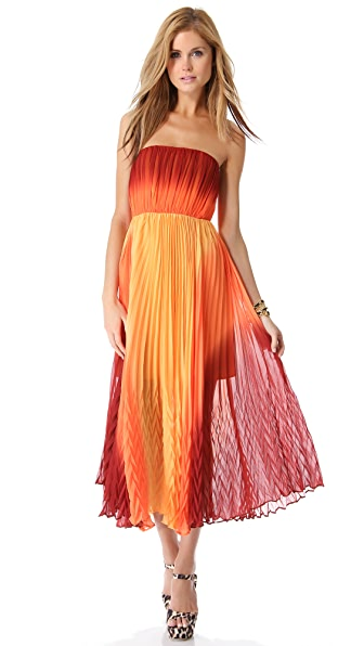 alice + olivia Uma Strapless Maxi Dress