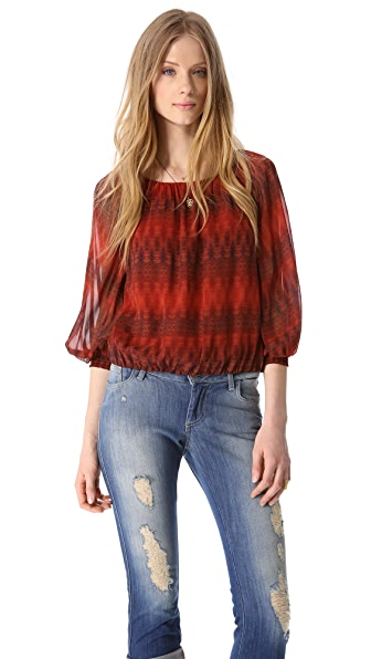 alice + olivia Alta Peasant Top