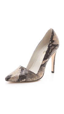 alice + olivia Dina Snake Pumps