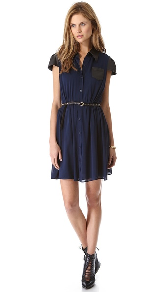 alice + olivia Kendale Button Down Dress