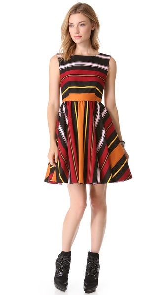 alice + olivia Fila Flare Dress