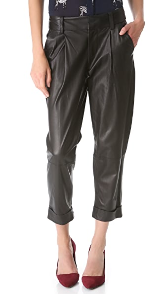 alice + olivia Leather Arthur Pants