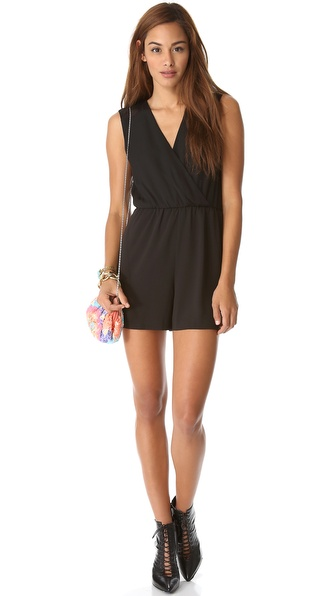 alice + olivia Marlo Cross Back Romper