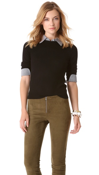 alice + olivia Wiley Sweater with Collar & Cuff