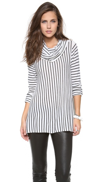 alice + olivia Drape Stripe Sweater