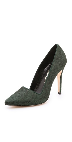 alice + olivia Dina Haircalf Pumps at Shopbop / East Dane