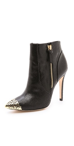 alice + olivia Donnie Cap Toe Booties at Shopbop / East Dane