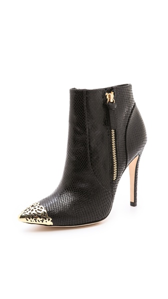 alice + olivia Donnie Cap Toe Booties