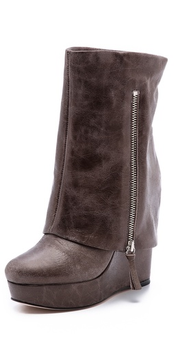alice + olivia Yeardley Leather Cuff Boots at Shopbop / East Dane