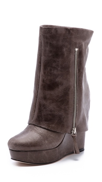 alice + olivia Yeardley Leather Cuff Boots