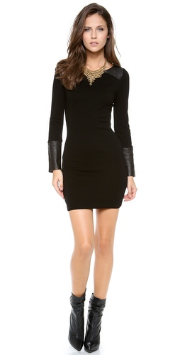 alice + olivia Daynah Quilted Shoulder Dress at Shopbop / East Dane