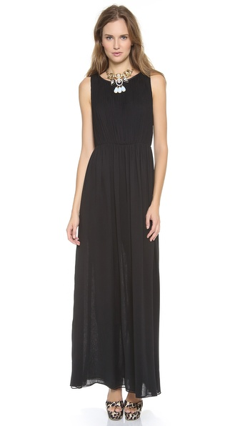 alice + olivia Jayden Pleated Maxi Dress