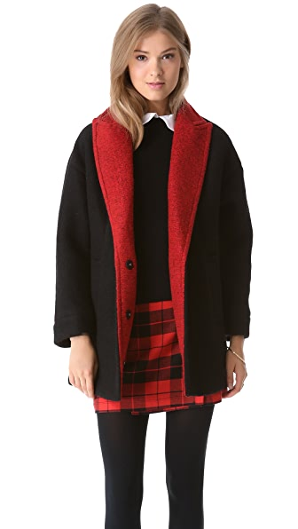 alice + olivia Cyndie Oversized Cocoon Coat