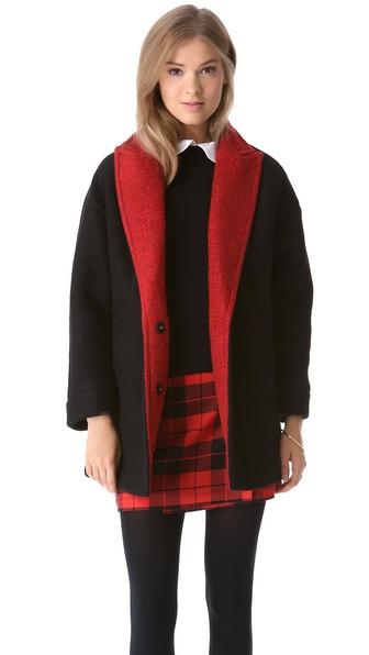 alice + olivia Cyndie Oversized Cocoon Coat