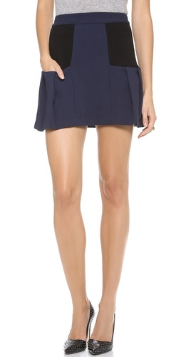 alice + olivia Linder Box Pleat Skirt at Shopbop / East Dane
