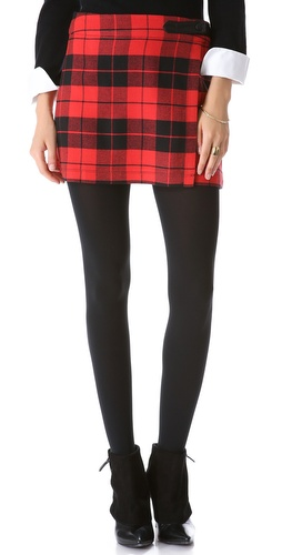 alice + olivia Weston Plaid Skirt at Shopbop / East Dane