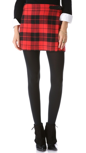 alice + olivia Weston Plaid Skirt