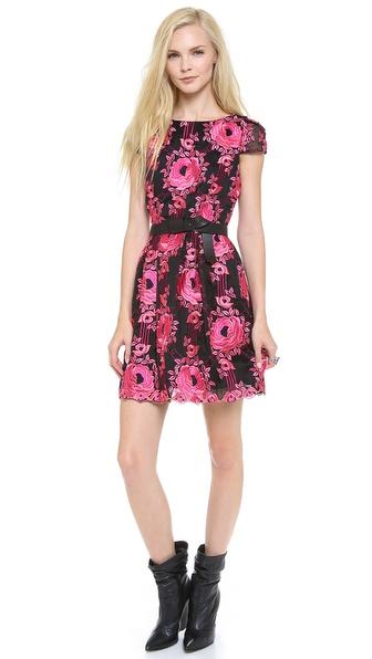 alice + olivia Chantil Embroidered Dress