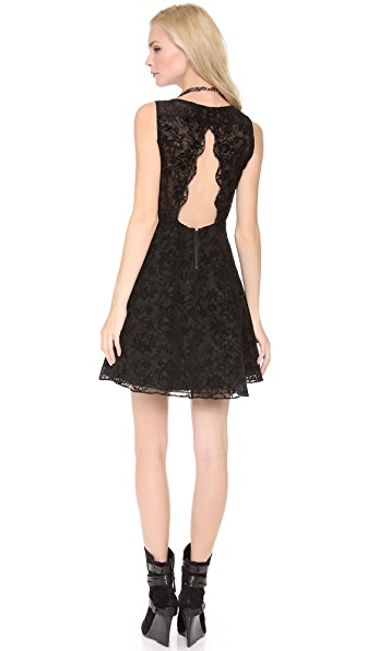 alice + olivia Natalia Open Back Dress