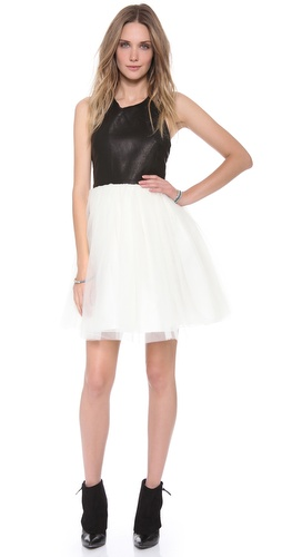 alice + olivia Ginnifer Leather Party Dress at Shopbop / East Dane