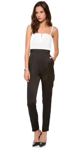 alice + olivia Arrow Tank Pleat Jumpsuit