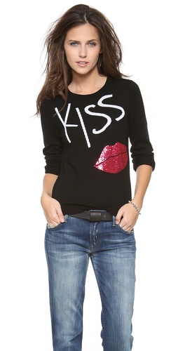 alice + olivia Karsyn Kiss & Tell Sweater at Shopbop / East Dane