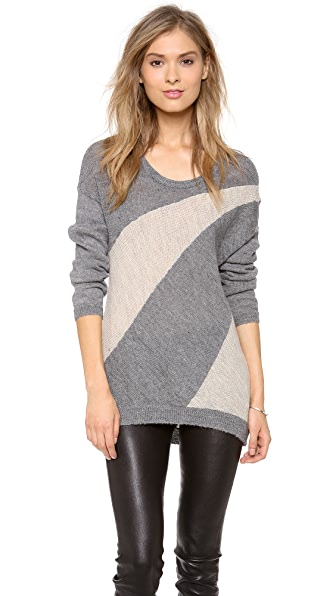 alice + olivia Celeste Sunburst Colorblock Sweater