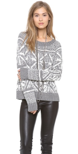 alice + olivia Lucille Snowflake Sweater at Shopbop / East Dane