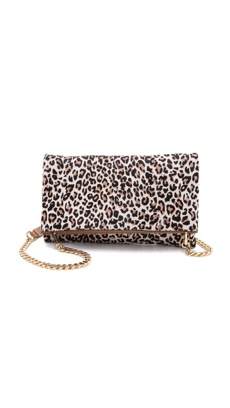 alice + olivia Me Clutch in Haircalf