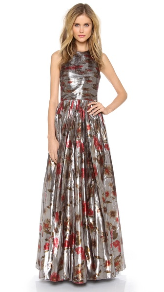 alice + olivia Nova Tiered Gown