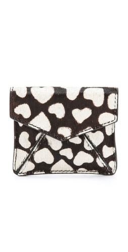 alice + olivia Heart Haircalf Envelope Pouch at Shopbop / East Dane