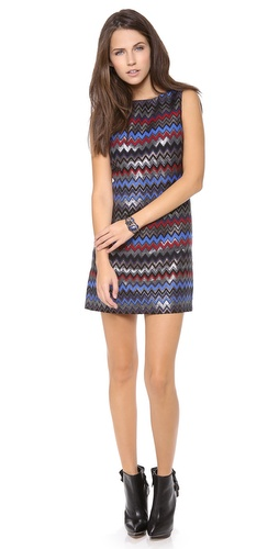 alice + olivia Donovan Sleeve Shift Dress at Shopbop / East Dane