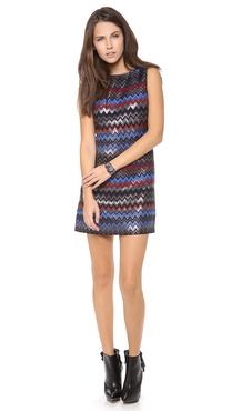 alice + olivia Donovan Sleeve Shift Dress