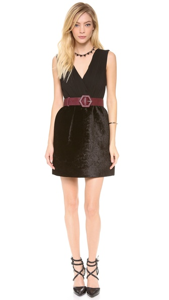 alice + olivia Riva Gathered Pouf Skirt Dress