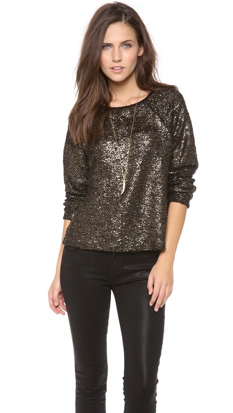 alice + olivia Mayer Boxy Raglan Top