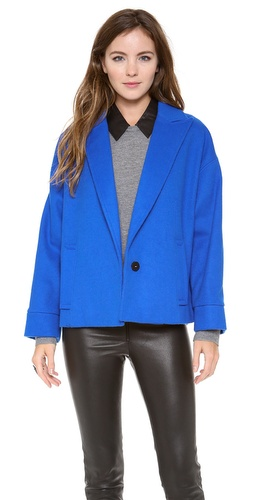 alice + olivia Leah Cropped Cocoon Coat at Shopbop / East Dane