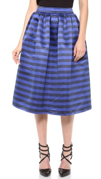 alice + olivia Stapen Box Pleat Skirt