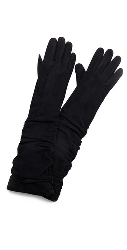 alice + olivia Elenore Suede Elbow Gloves at Shopbop / East Dane