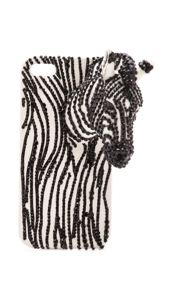 alice + olivia Zebra Jeweled iPhone 5 Case
