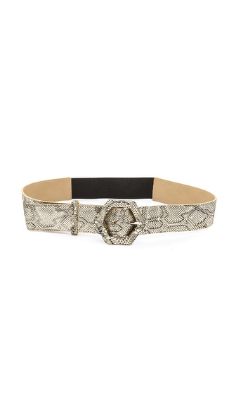 alice + olivia Hexagon Buckle Belt