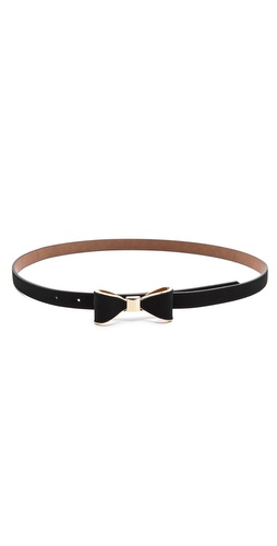 alice + olivia Bow Skinny Belt at Shopbop / East Dane