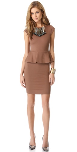 alice + olivia Victoria Peplum Dress at Shopbop / East Dane